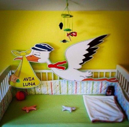 leteča štorklja ob rojstvu otroka